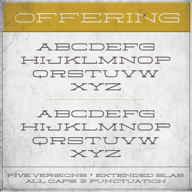Offering Free Font