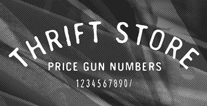 Thrift Store Number Font