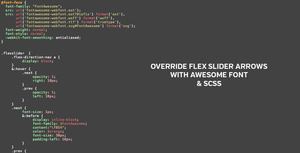 Override Flex Slider Arrows With Awesome Font SCSS