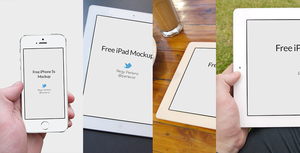 iPad and iPhone 5s mockup