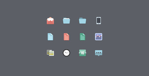 Folder, Map, Paper, Icons